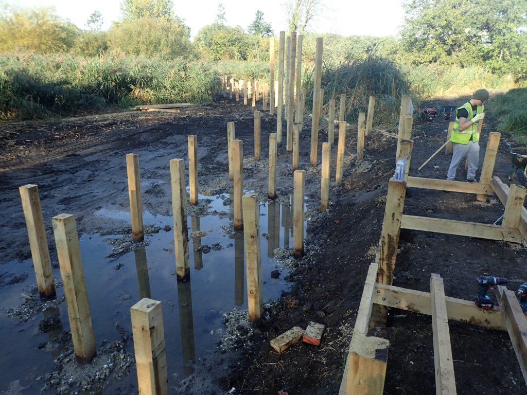 01 work in progress morden hall park boardwalk and viewing platform construction national trust property