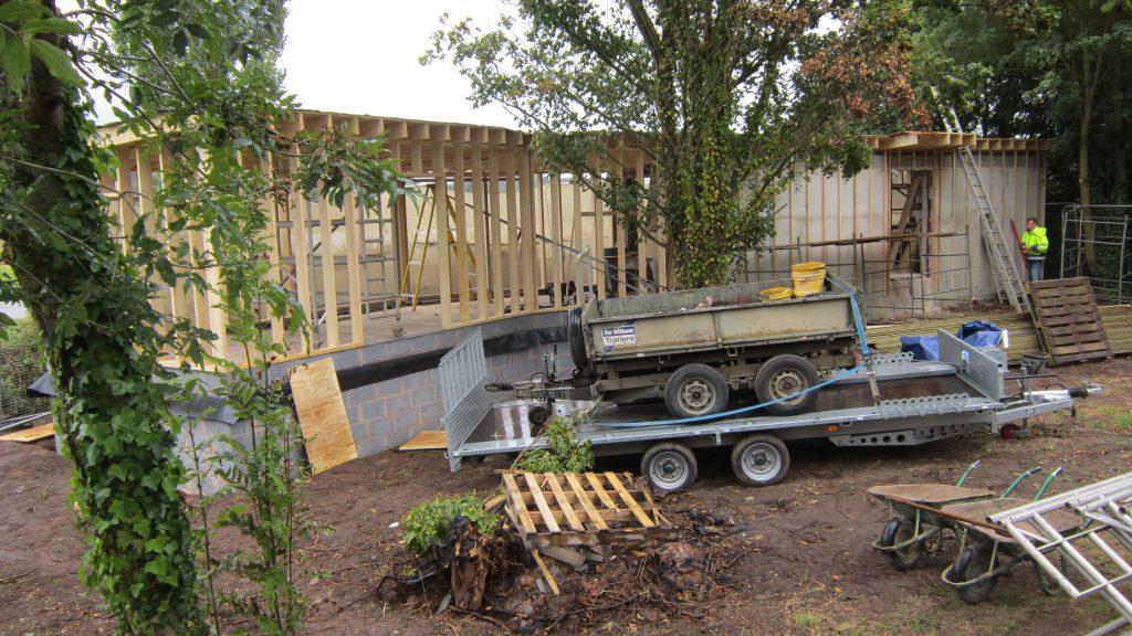 02 construction initial phase bowling green marsh topsham bird hide rspb