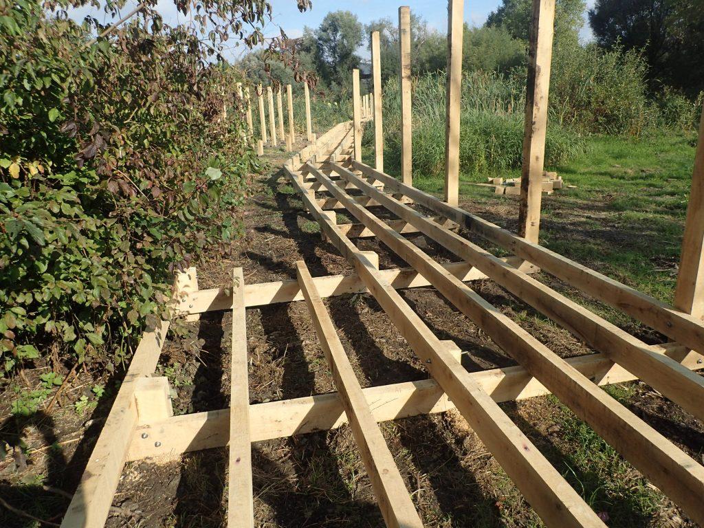 04 work in progress morden hall park boardwalk and viewing platform construction national trust property