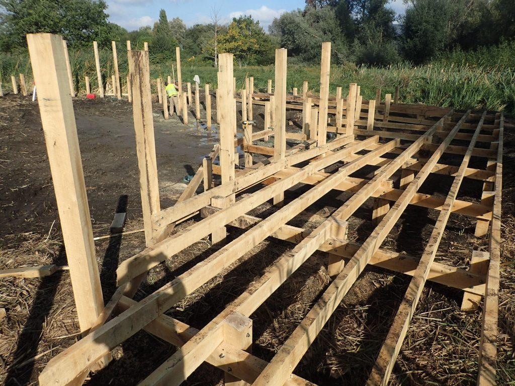 06 work in progress morden hall park boardwalk and viewing platform construction national trust property