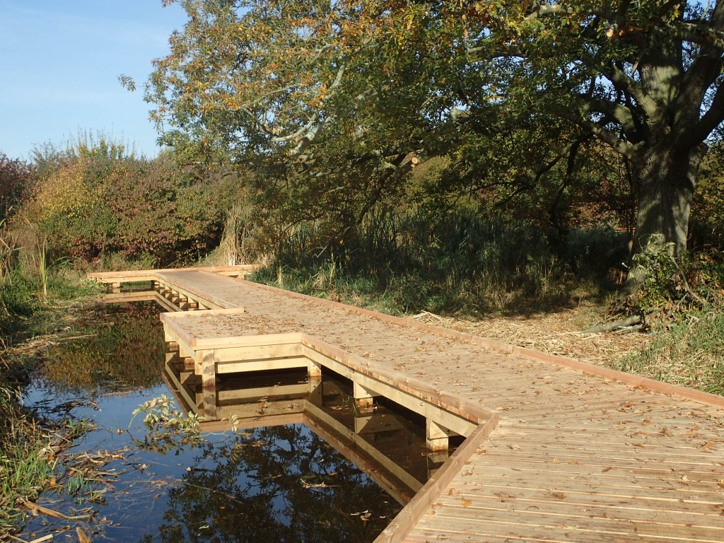 14 morden hall park 250m oak and larch boardwalk nature walk with viewing platforms national trust property
