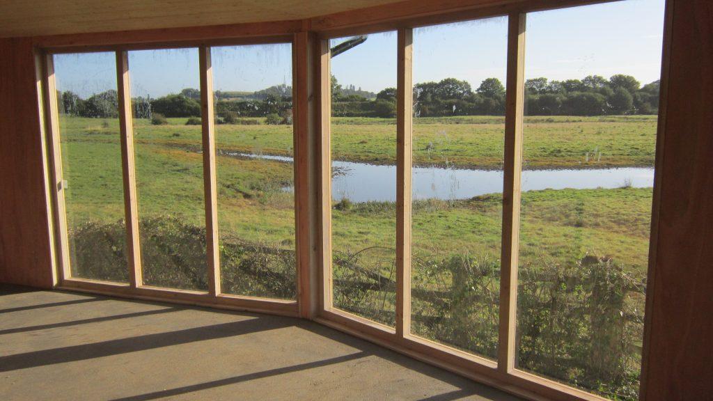 16 large widow view bowling green marsh topsham bird hide rspb