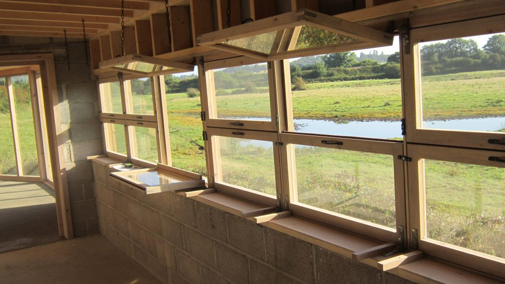19 windows open closed and half open bowling green marsh topsham bird hide rspb