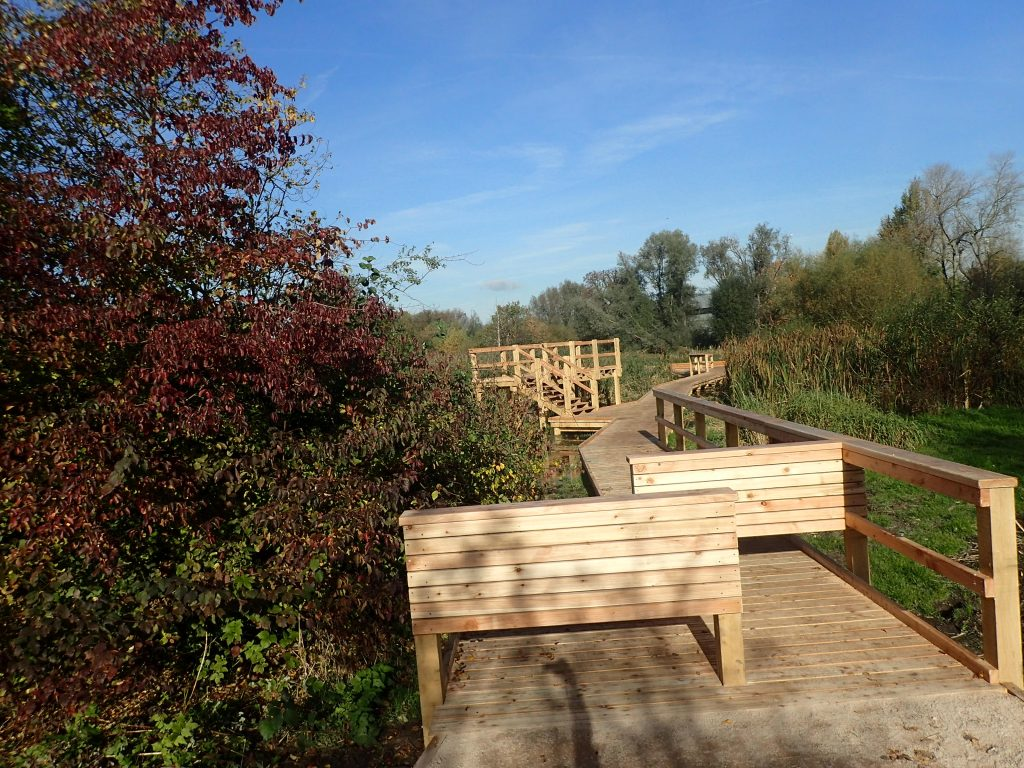 20 morden hall park 250m oak and larch boardwalk nature walk with viewing platforms national trust property