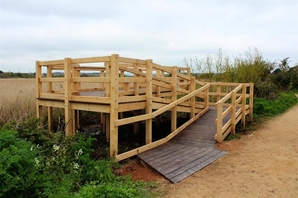 Raised Wooden Platform With Access Ramp