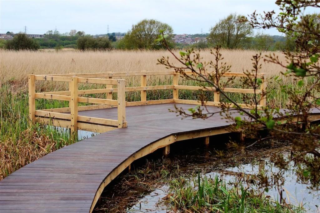 Viewing platform medium wooden boardwalk bespoke walkways jettys and boardwalks for wetland areas by the wild deck company