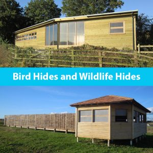 Bird hides and wildlife hides by the wild deck company
