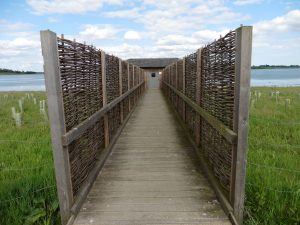 Entrance island bird hide at abberton reservoir for essex wildlife trust