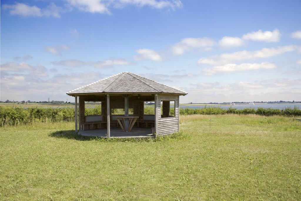 Main view site visit octagon bird hide childrens visitor information centre abberton reservoir essex wildlife trust