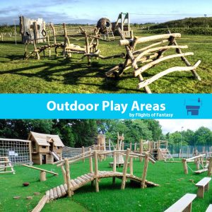 Outdoor play areas by the wild deck company and flights of fantasy
