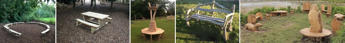 Picnic areas and custom seating by the wild deck company