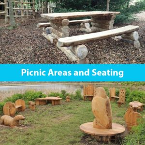 Picnic areas and seating by the wild deck company