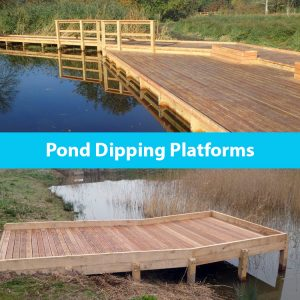 Pond dipping platforms by the wild deck company