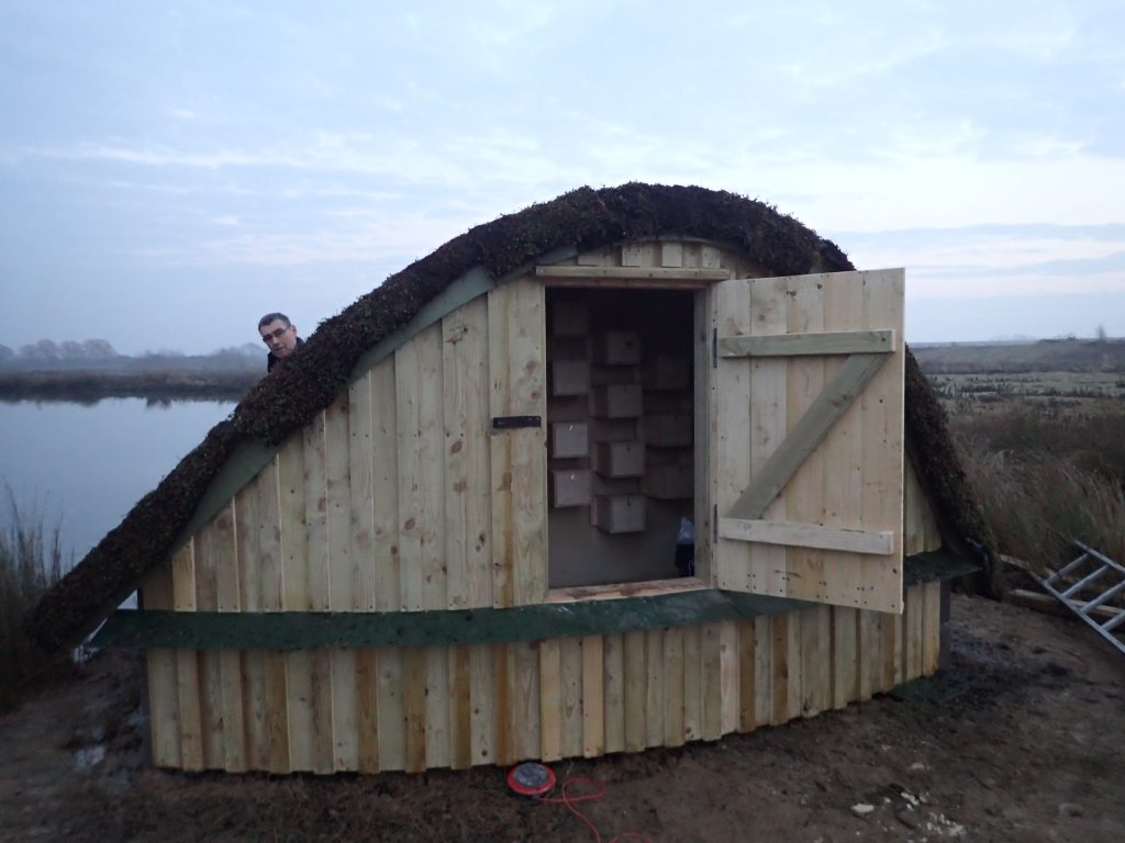 Rear entrance sand martin bank at abberton reservoir by the wild deck company