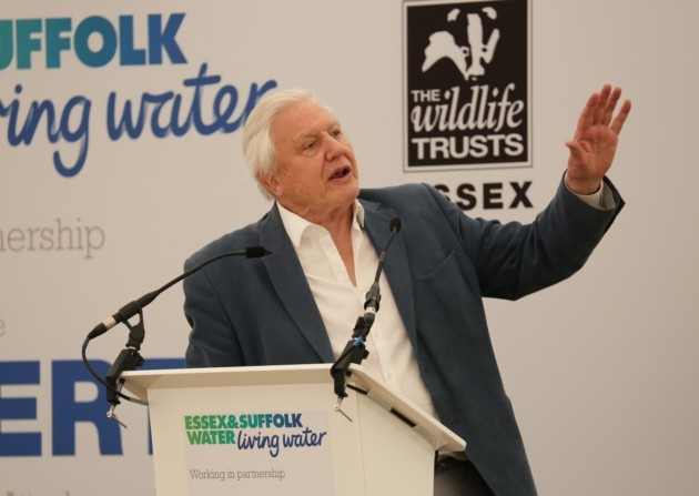 Sir david attenborough at abberton reservoir essex wildlife trust