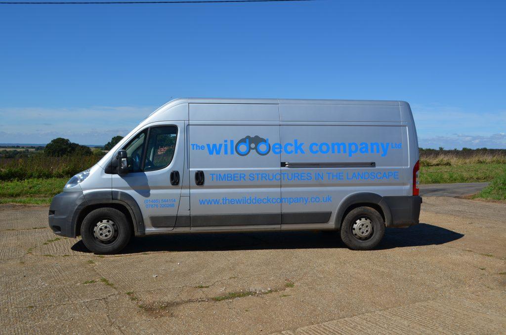 The wild deck company van
