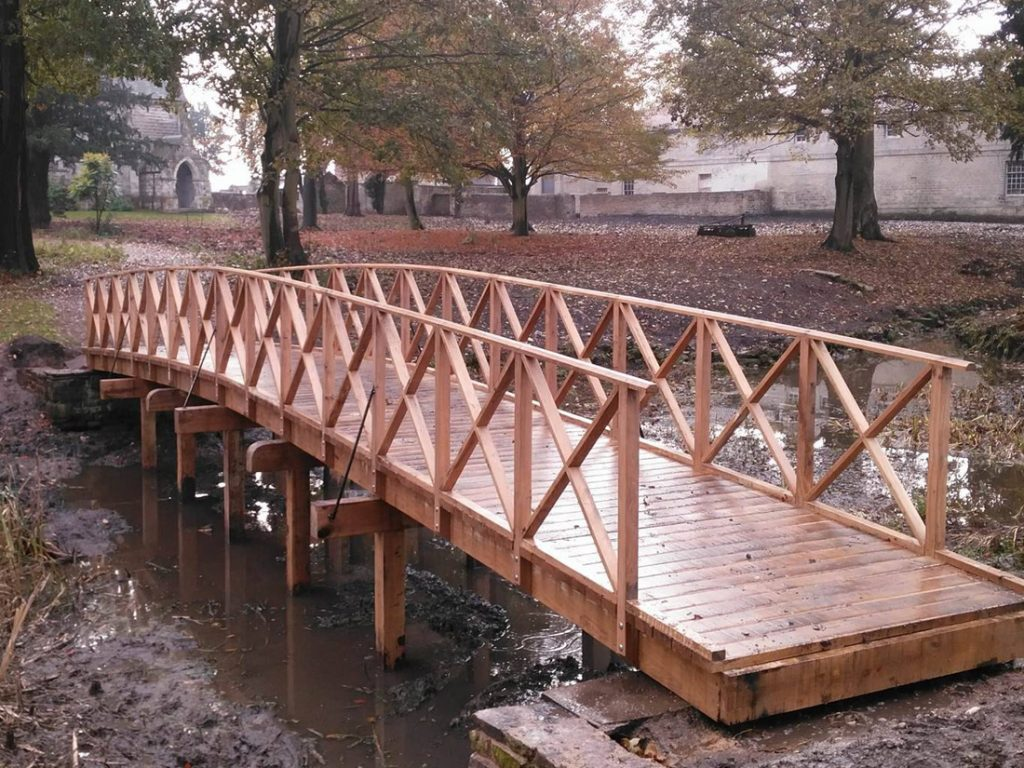 Victorian style arched bridge
