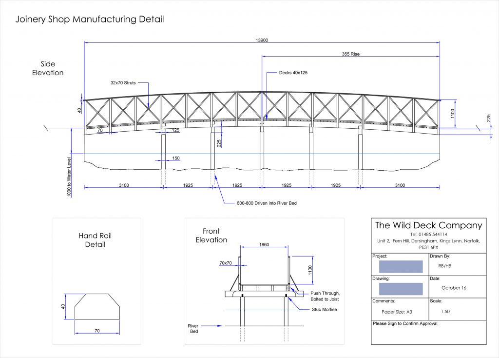Victorian style arched bridge plans