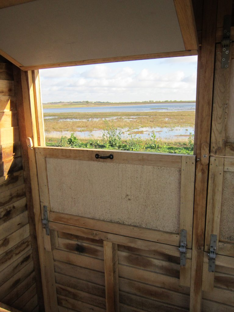 View from left window abberton reservoir memorial bird hide blind essex wildlife trust