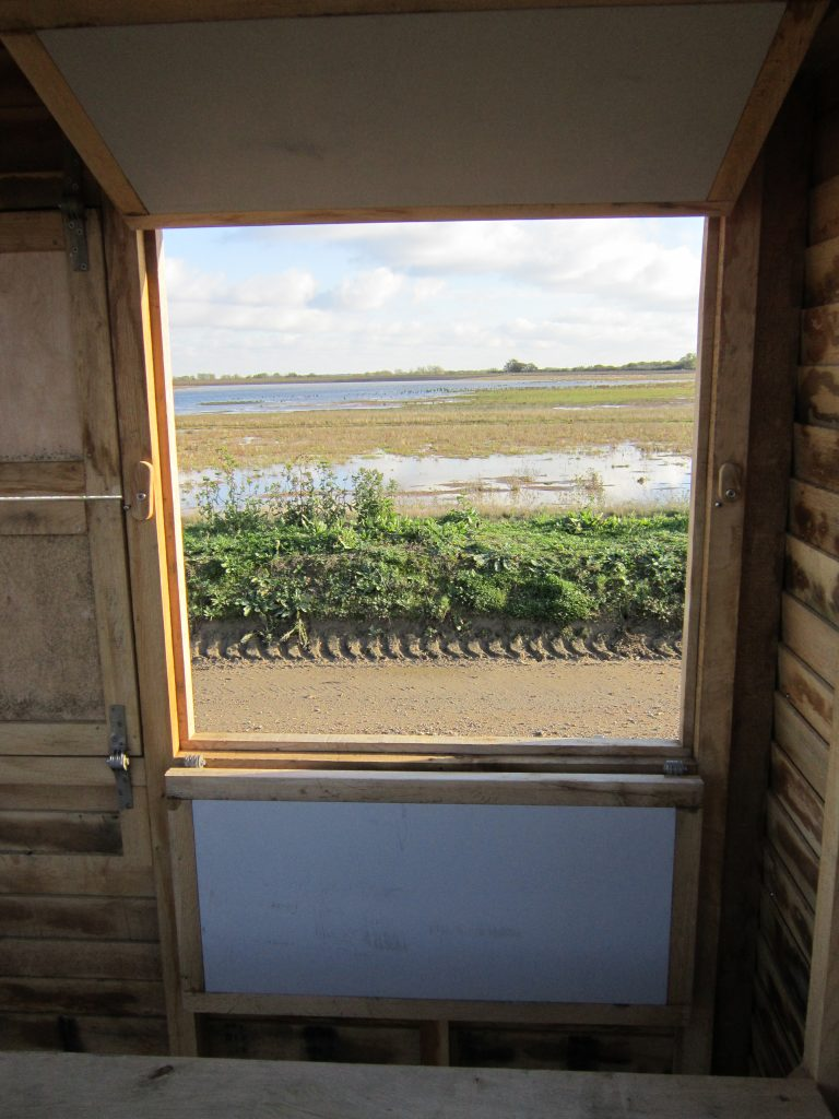 View from right window abberton reservoir memorial bird hide blind essex wildlife trust