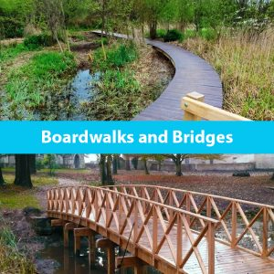 Wooden boardwalks and custom bridges by the wild deck company