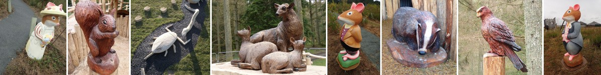 Wooden sculptures and bspoke carvings by the wild deck company