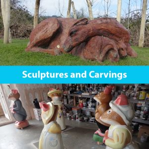 Wooden sculptures and carvings by the wild deck company