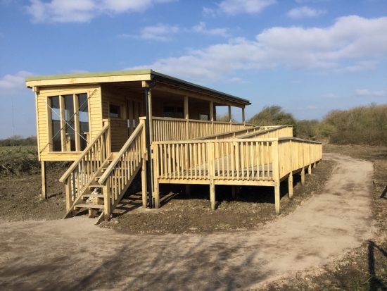 access ramp at bird hide at rspb pagham harbour