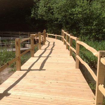 almost finished kew wakehurst oak boardwalk wip
