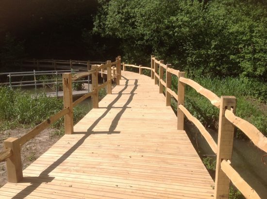 almost finished kew wakehurst oak boardwalk wip