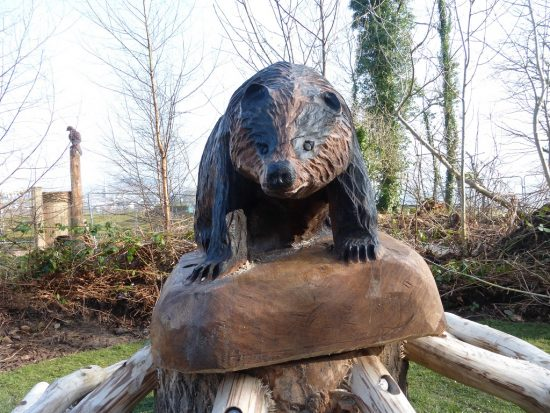 badger carving