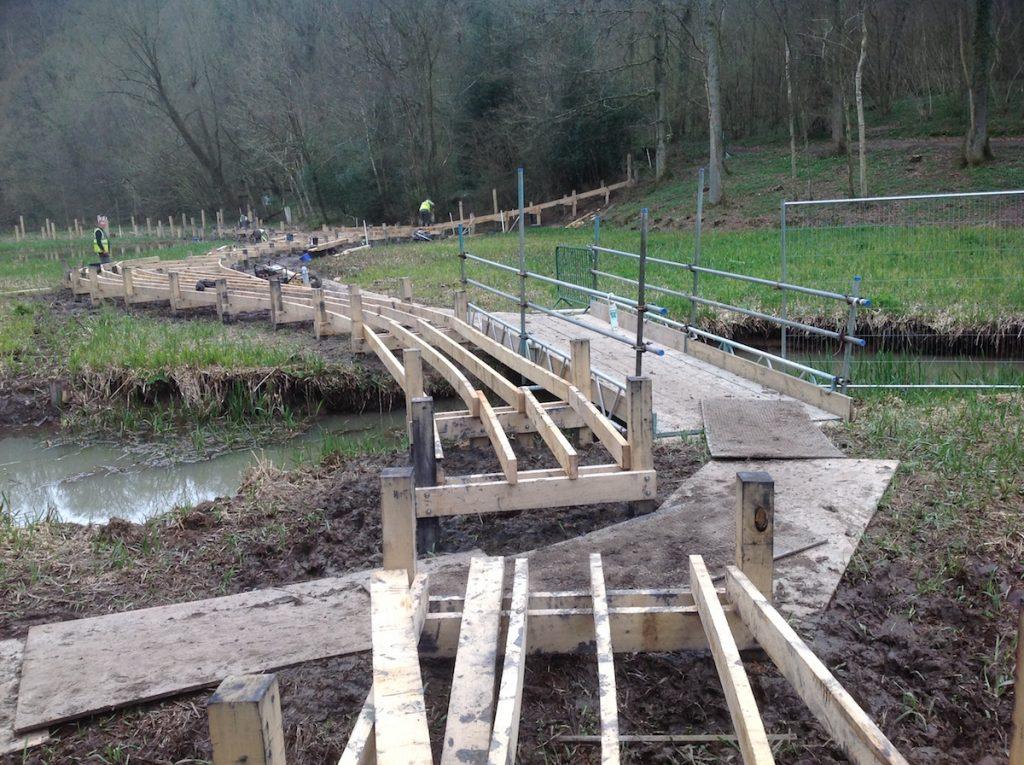 bridge wakehurst kew boardwalk work in progress