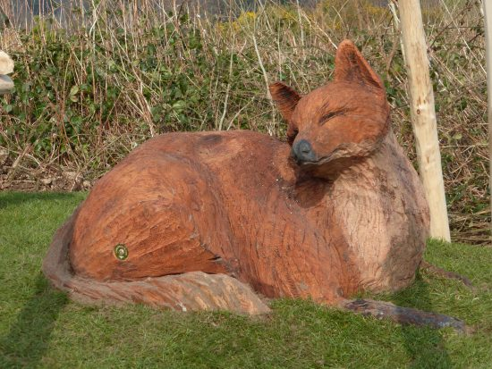 fox carving at castlewellan