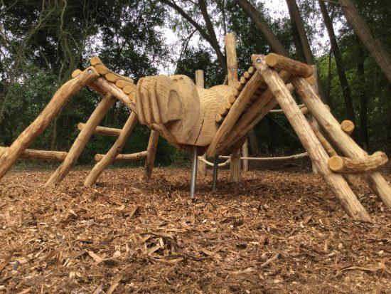 menacing spider climb rushden lakes play area