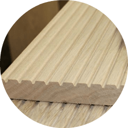 oak decking profiled