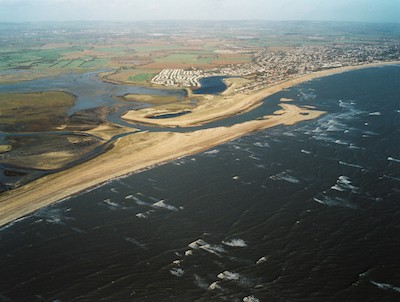 pagham harbour aerial view
