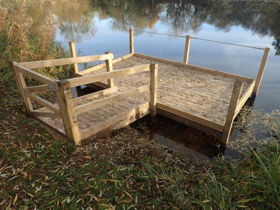 pond dipping platform at rushden lakes