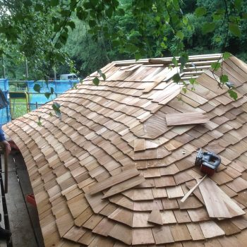 shelter roof kew wakehurst wip