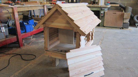 side view rabbit hutch pergola work in progress