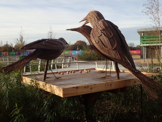 three giant starlings