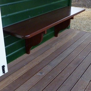 Wooden Porch Bench