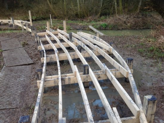 wetland wakehurst kew boardwalk work in progress
