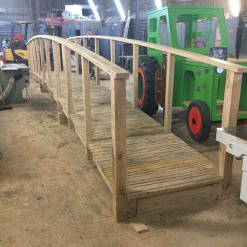 wip arched oak bridge