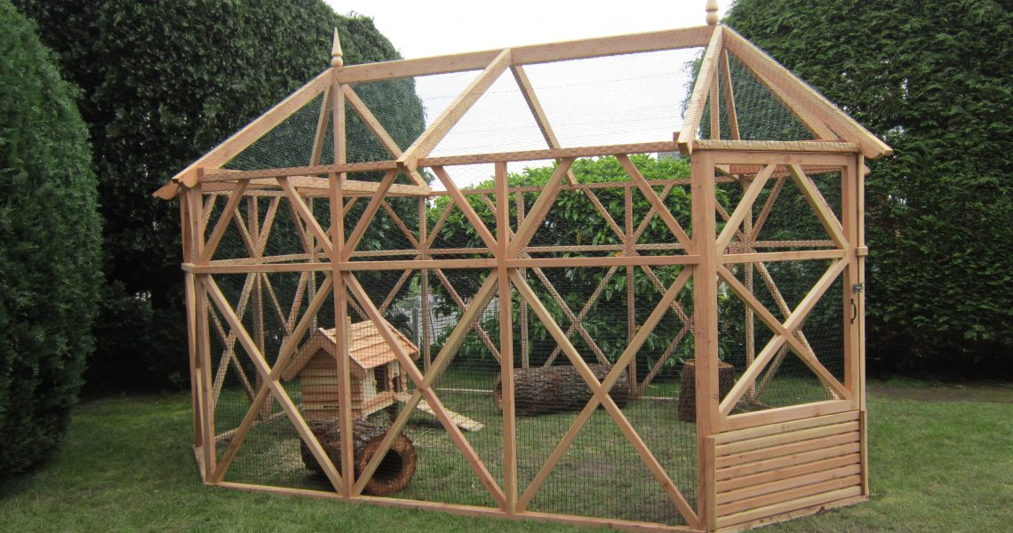 wooden garden rabbit hutch pergola